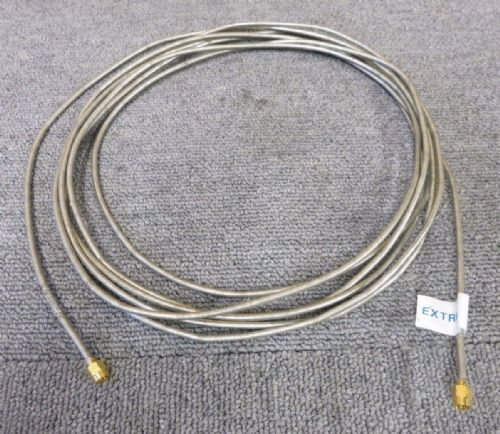 Straight SMA Plug Male To Straight SMA Plug Male 4.5M Silver Coaxial RF Cable